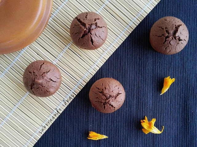 Magdalenas de chocolate - saboreando ideas
