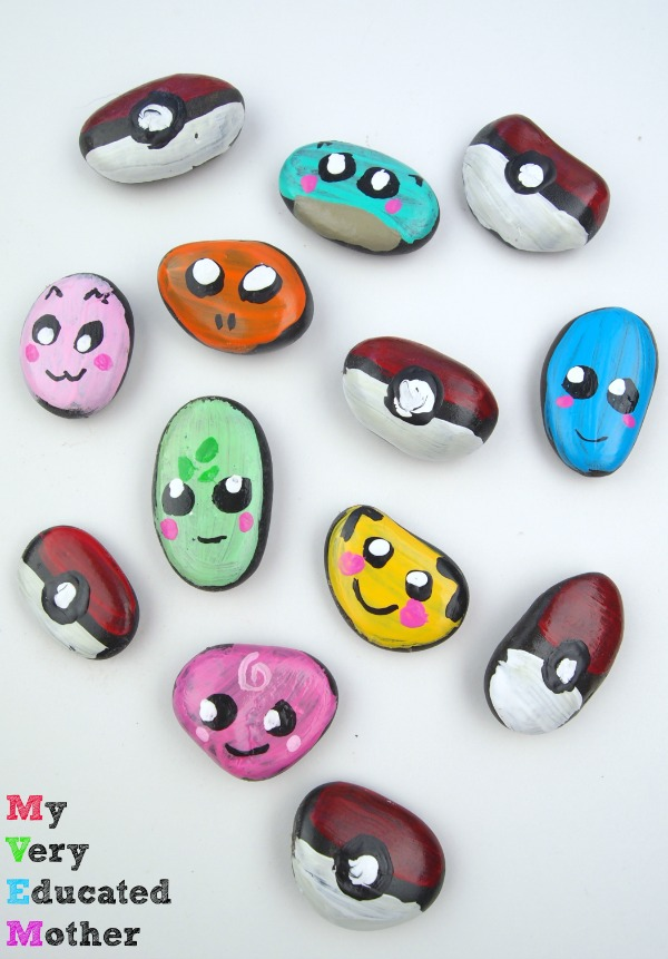 Make your own DIY Pokemon Rocks! Kids Craft and Activity