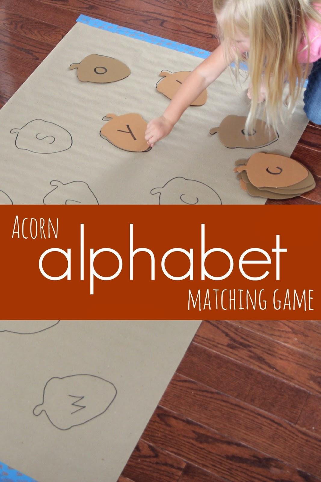 Acorn Alphabet Matching Game
