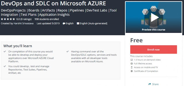 [100% Free] DevOps and SDLC on Microsoft AZURE