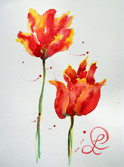 http://paintingsbylyndacookson.blogspot.fr/2016/05/seasons-first-tulips-by-lynda-cookson.html