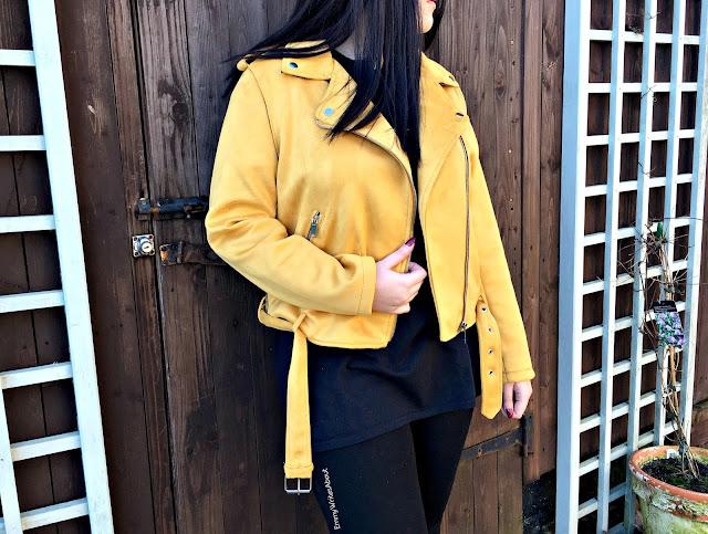 Mustard Faux Suede Jacket