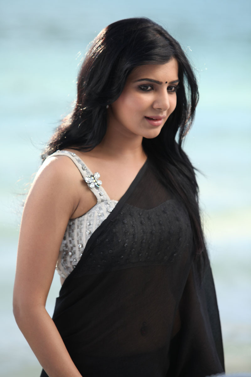 Samantha Ruth Prabhu in Jabardasht movie, Samantha Ruth Prabhu in black saree
