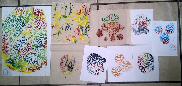 selection of dendritic prints