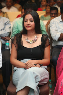 Swetha Basu in a Black Sleeveless Top Long Skirt at Mixture Potlam Movie Audio Launch 010.JPG