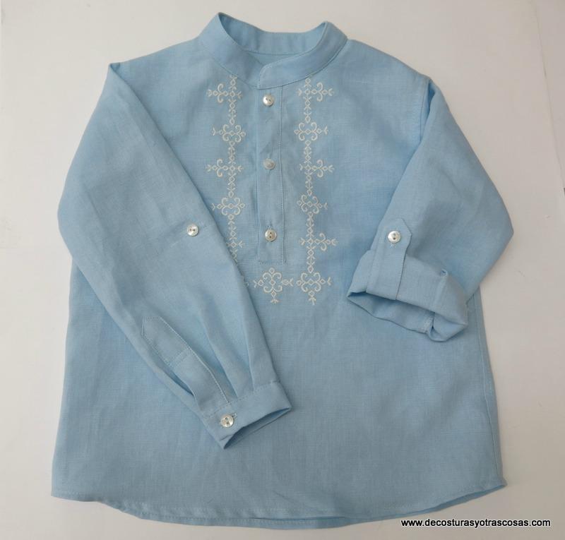 como confeccionar camisa bordada para niños
