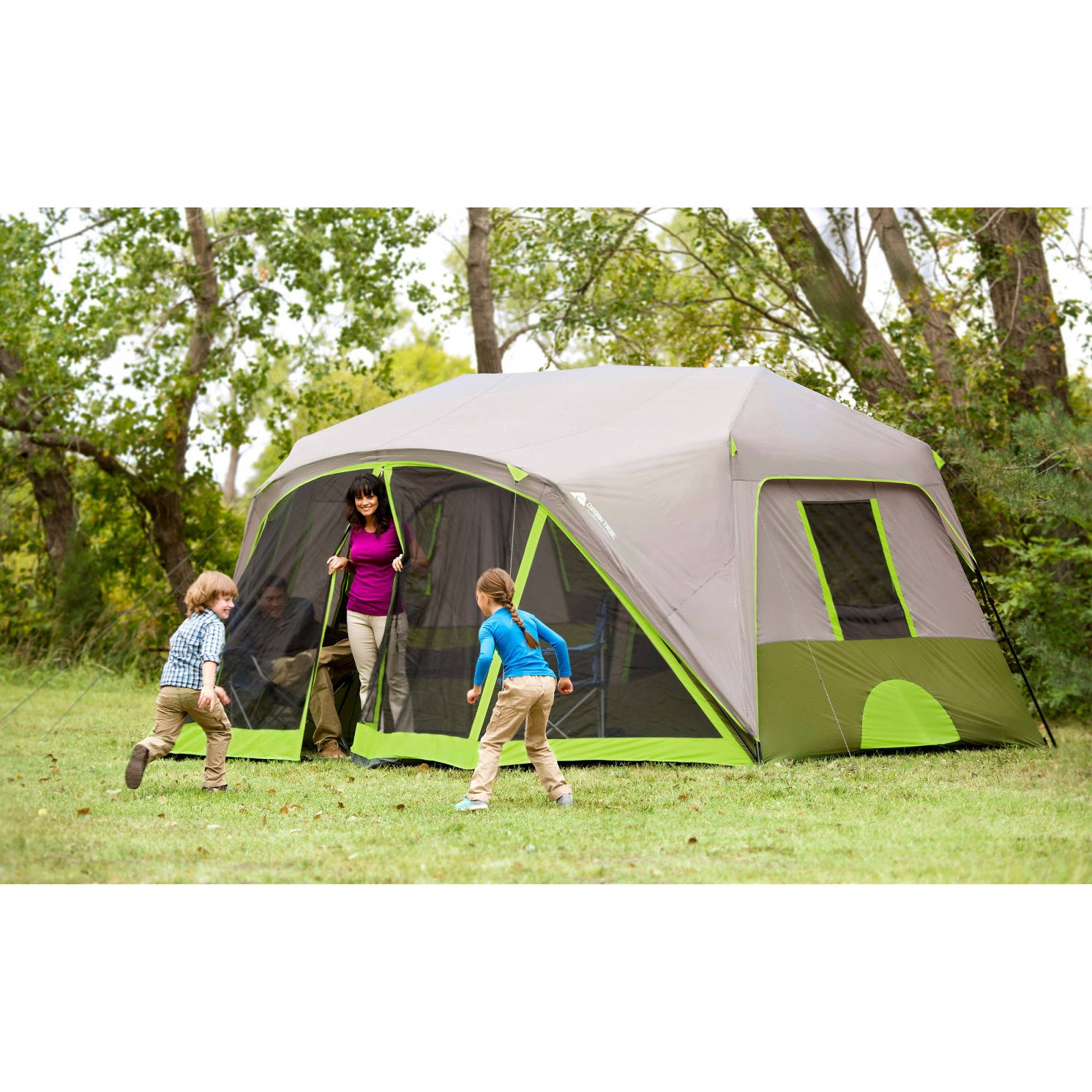Ozark Trail 9 Person Camping Tent Dome 2 Rooms Cabin Tent