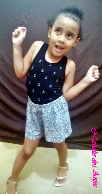Achegue-se! Look do dia - Infantil, short animal print e regata
