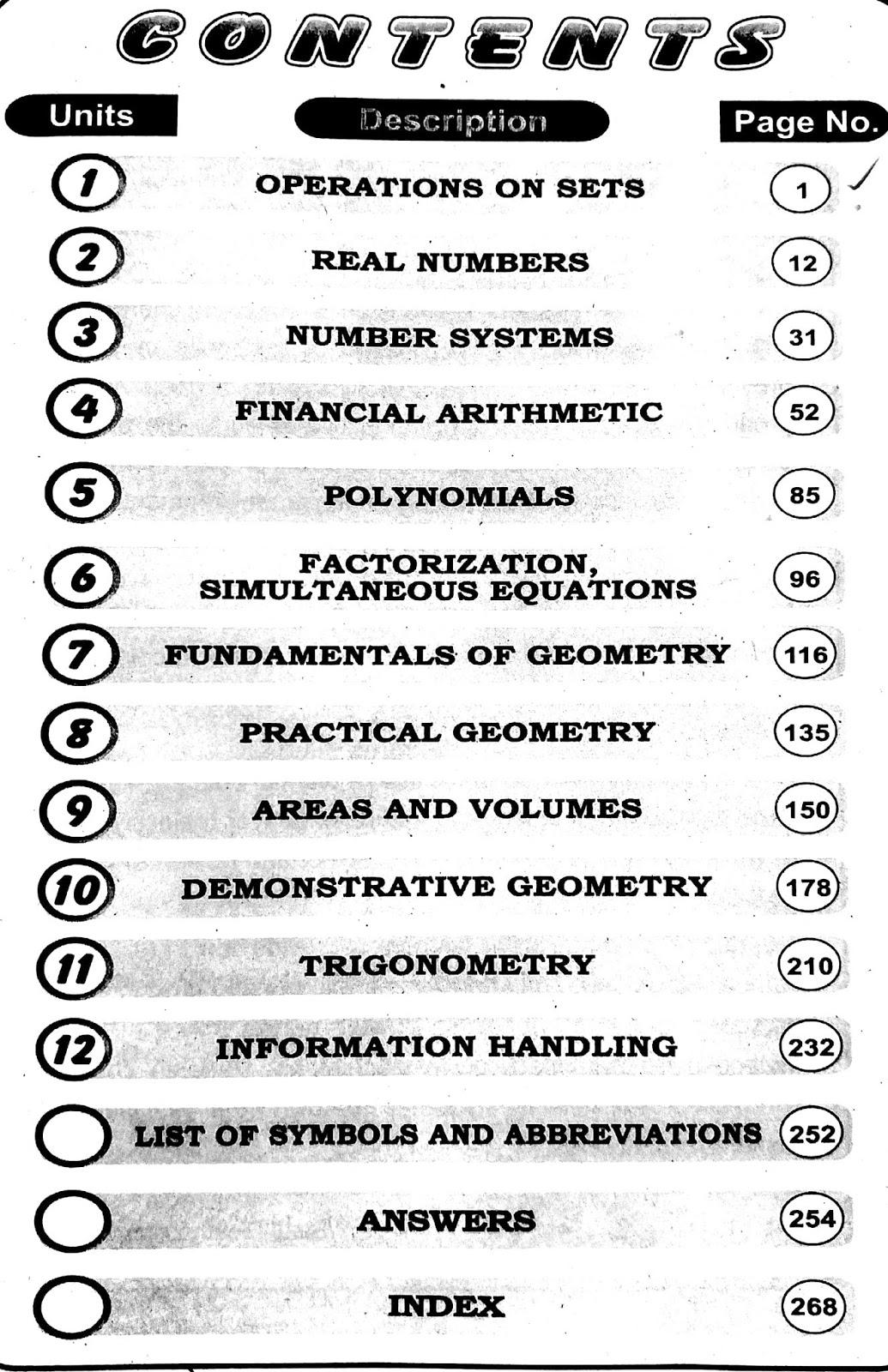 Key Book of Firstyear Mathematics