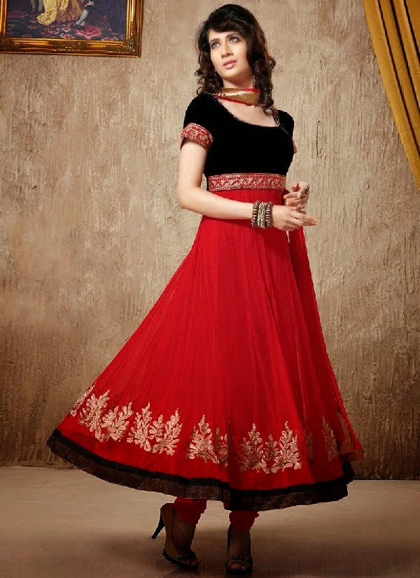 c2ae2aba8 Exclusive Indian Anarkali Frocks Collection 2014 With Shimmer ...