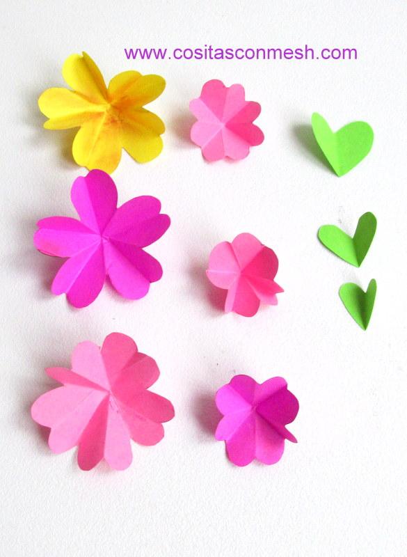 2 Ideas para hacer flores de papel para regalos cositasconmesh