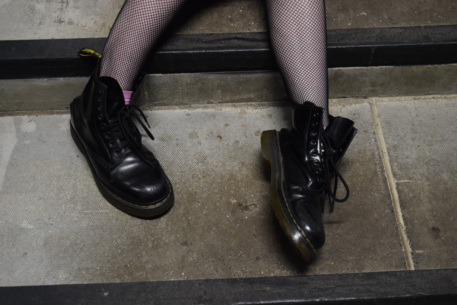 fishnets and Dr Martens
