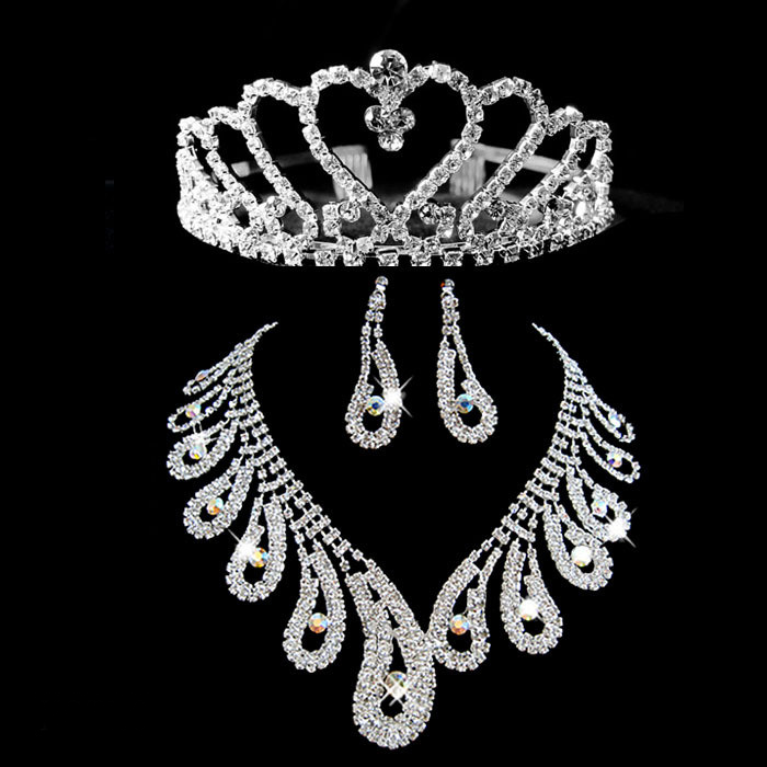Tailor made Chester Fashion Crystal Wedding Bridal Tiaras &Jewelry Sets- Including Necklace,earring