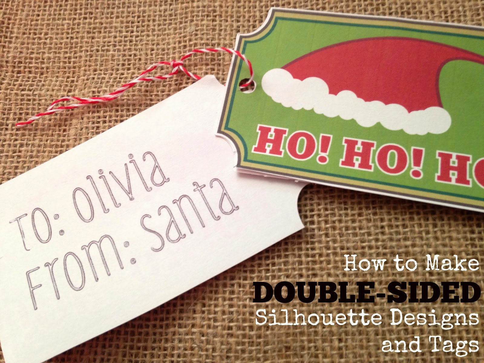 Double-sided, double sided, gift tags, Silhouette tutorial, Silhouette Studio