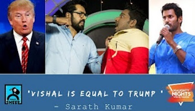 Vishal is equal to Trump   Naughty Nights with RJ Vignesh   Black Sheep