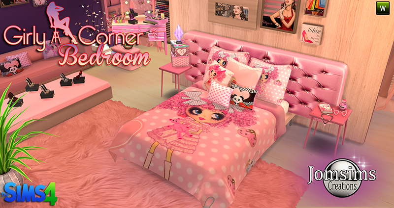 My Sims 4 Blog: Girly Corner Bedroom Set by JomSims