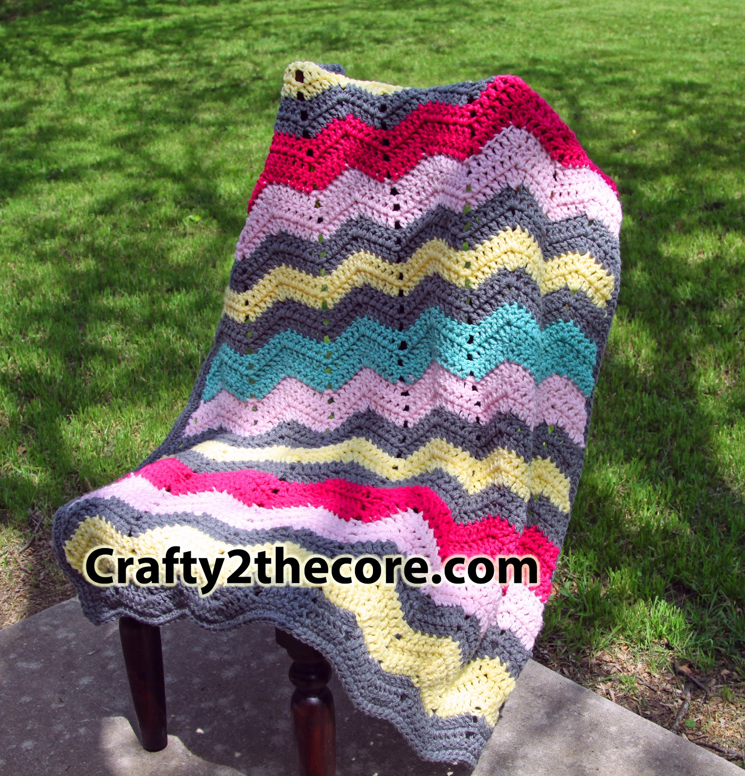Chunky Chevron Crochet Blanket Crafty 2 The Core