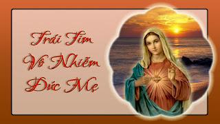 Kính Trái Tim Vô Nhiễm Nguyên Tội Mẹ Maria