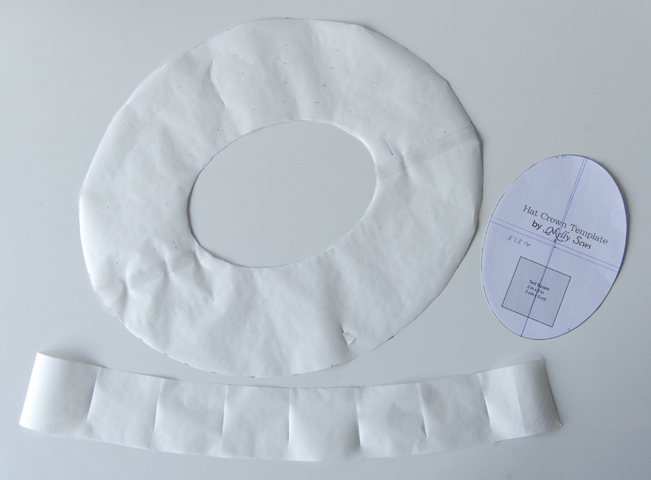 Tutorial How to sew easy summer sun hats black gothic wide brimmed pattern templates