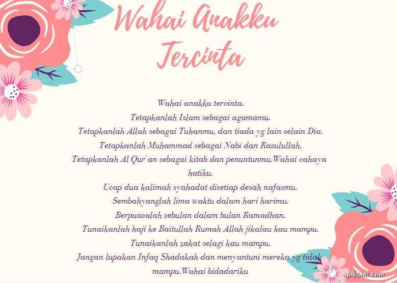 Ucapan ulang tahun islami untuk anak perempuan
