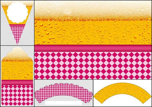 Fiesta de la Cerveza para Chicas: Imprimibles para Fiestas e Invitaciones para Imprimir Gratis.