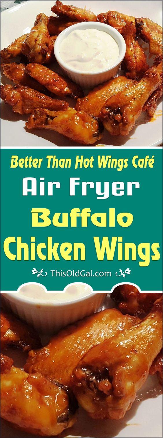 Better Than Hot Wings Café Air Fryer Buffalo Chicken Wings