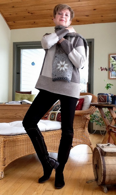 New Vince sweater with SW boots