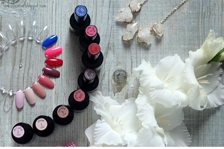 kolory lakierów hybrydowych Cosmetics Zone