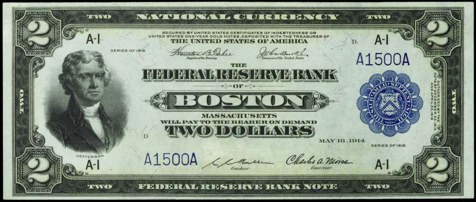 United States Currency Paper Money 2 Dollars