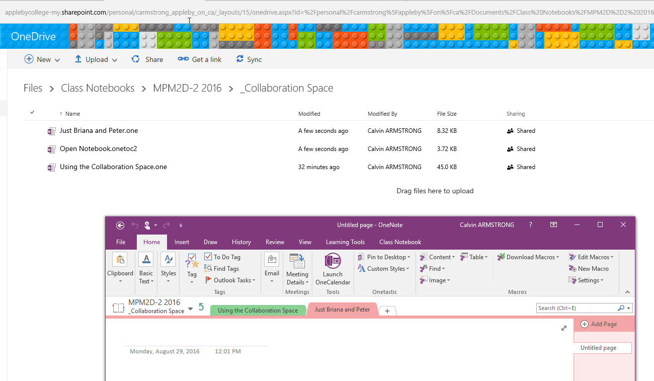 So you want to hack your OneNote Class Notebook