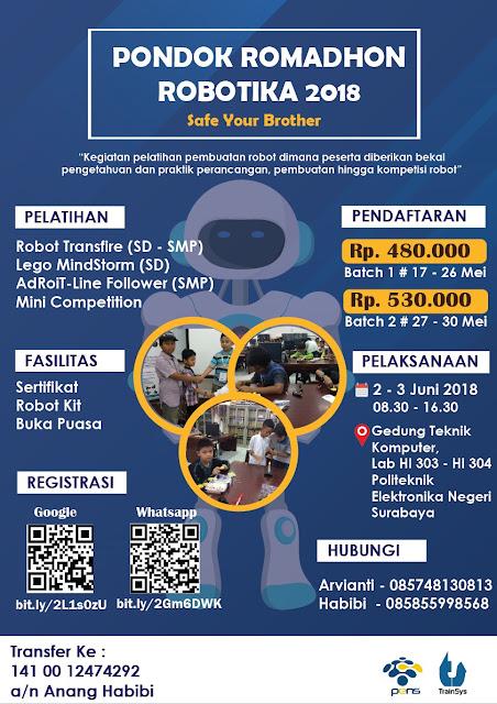 Event Pelatihan & Kompetisi Pondok Ramadhan Robotika 2018 PENS