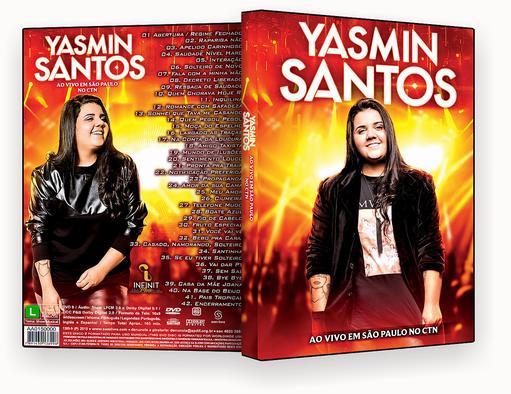 CAPA DVD – Yasmin Santos Ao Vivo Em São Paulo – ISO