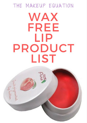 Wax Free Lip Product List