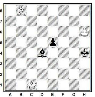 Estudio artístico de ajedrez compuesto por Paul Heüacker (Neue Freie Presse, 1920)