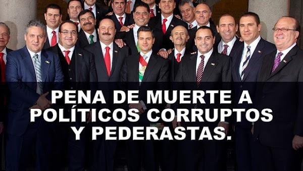 """El empresario Carlos Mimenza propone """"pena de muerte"""" a políticos corruptos y pederastas."""