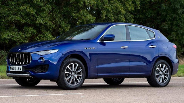 Maserati Levante S Blue side view HD Image