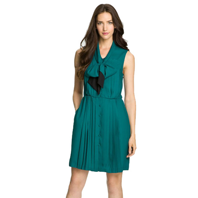 Bluish Green Sleeveless Dress for Women