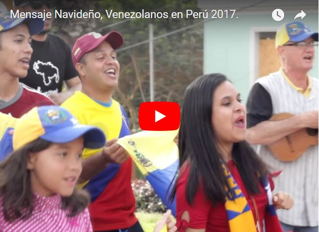 Venezolanos en Perú hicieron su propio mensaje de Navidad