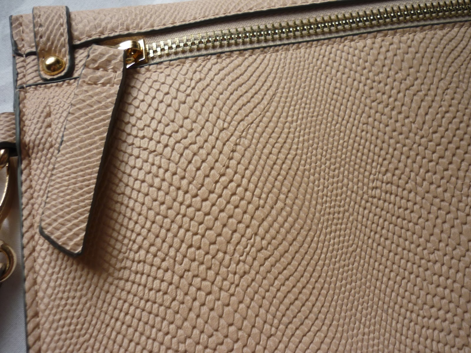 Close Up of Accessorize Snake Clutch
