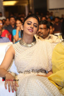 Actress Rakul Preet Singh Stills in White Dress at Winner Pre Release Function  0034.jpg