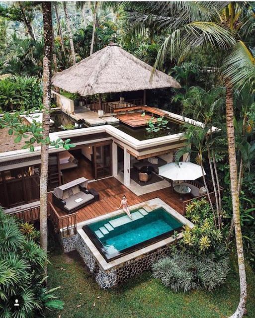 desain rumah tropikal
