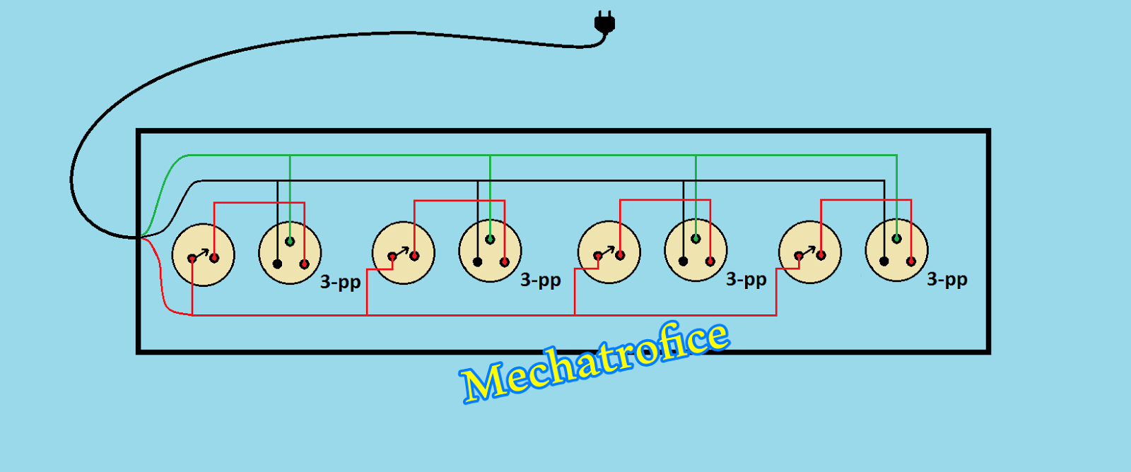 extension cord wiring diagram box circuit schematic