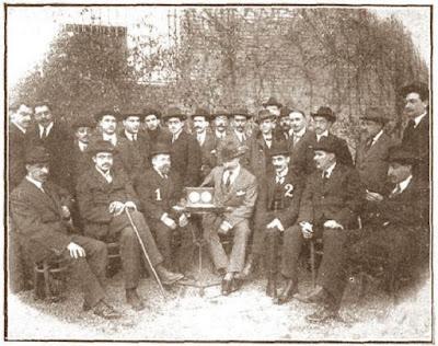 Participantes y organizadores del Campeonato de Ajedrez de Cataluña 1914