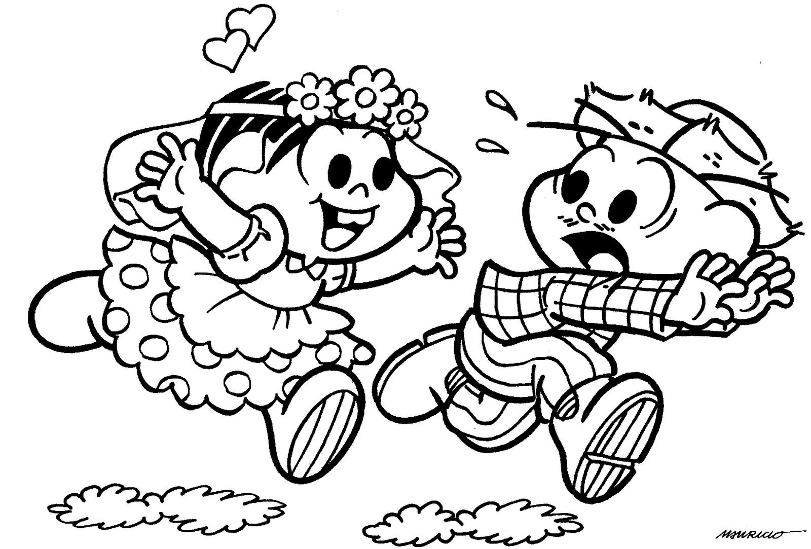 Festa Junina - Desenho para imprimir e colorir
