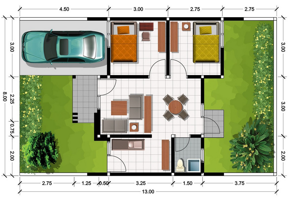 Desain Model Rumah Minimalis Sederhana Terbaru 1 Lantai