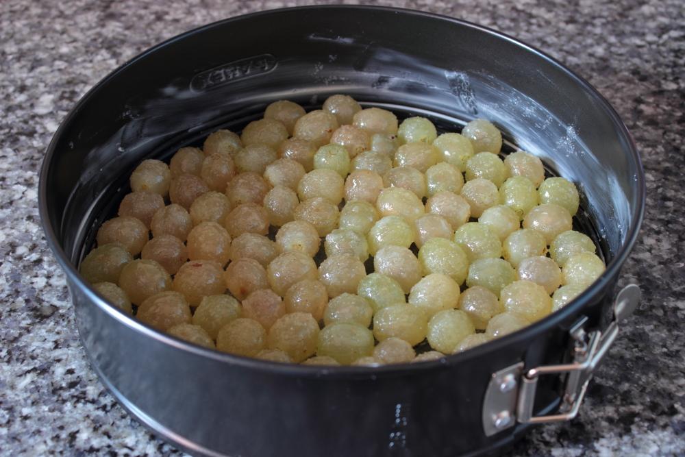 Clafoutis de uvas - Preparacion