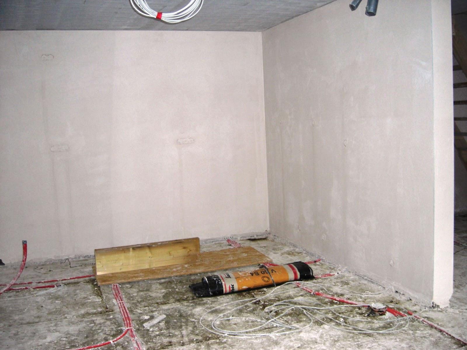 hausbau ak ds der innenputz ist fertig. Black Bedroom Furniture Sets. Home Design Ideas