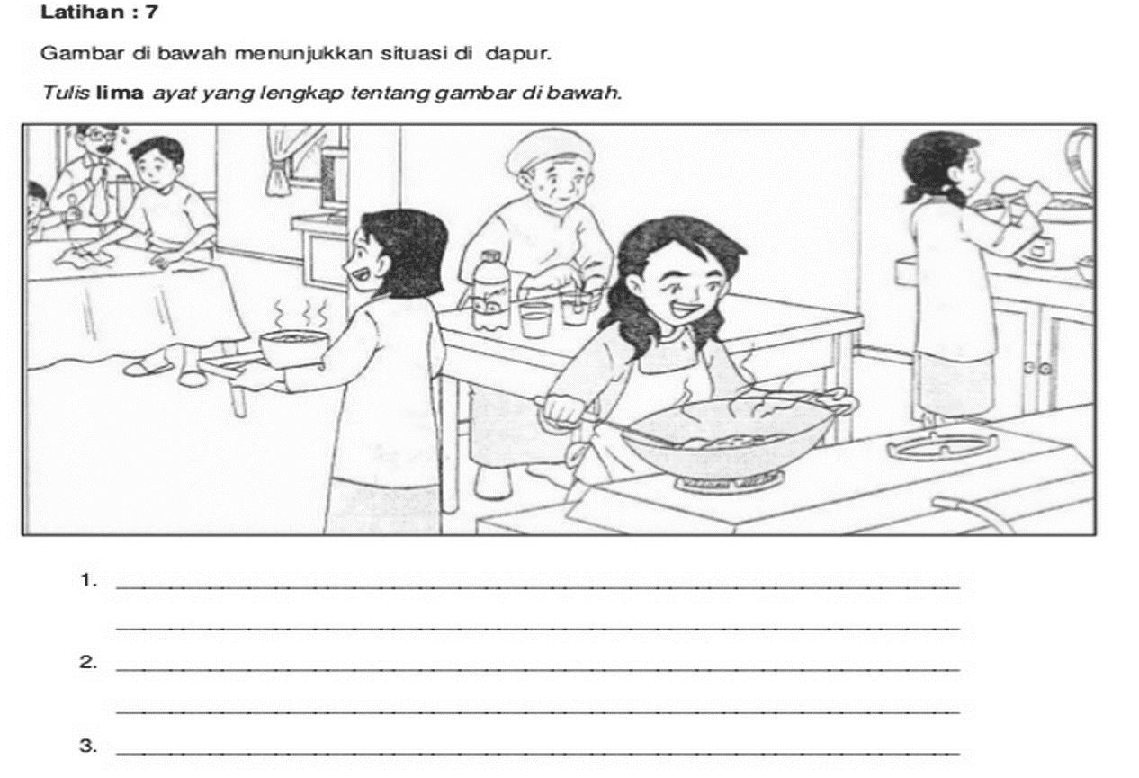 Gambar Situasi Di Dapur Desainrumahid Latihan Penulisan Bm Bina Ayat Mykssr