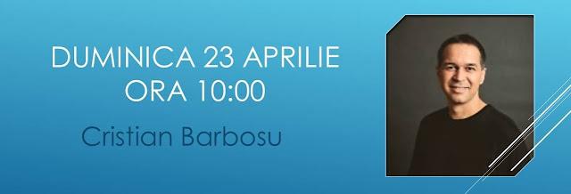 Cristian Barbosu la Biserica Stanca Timisoara - 23 aprilie