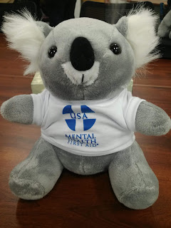 ALGEE the Mental Health First Aid mascot | a Koala Bear